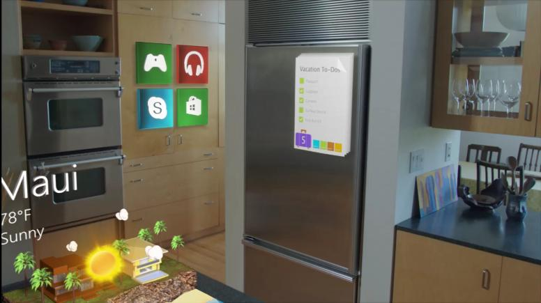 Hololens rendering interfaces on real world objects